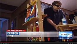 Video: June 20, 2014 WFAA News story about artist John Bramblitt, who offers workshops at Meadows Museum