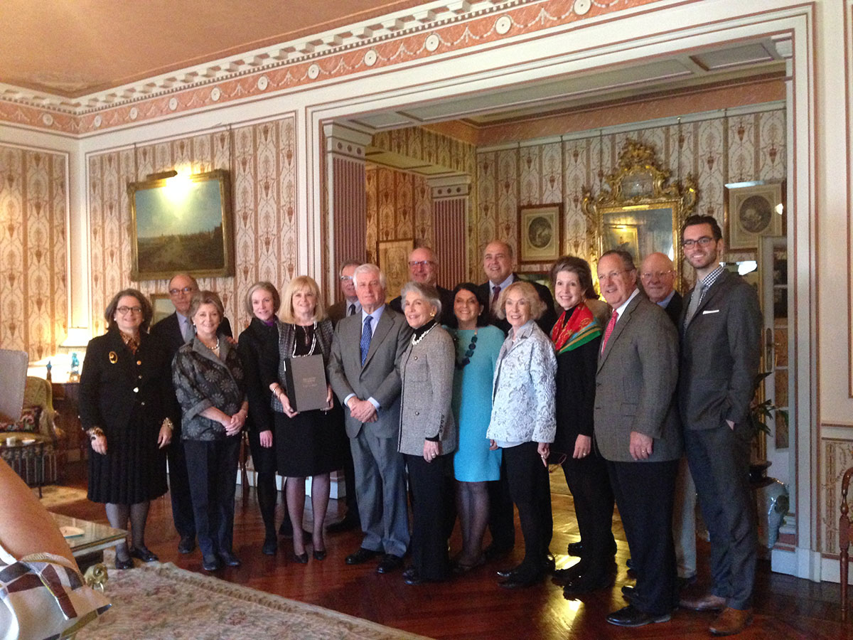 Meadows Museum members in the Liria Palace, Madrid, on a private tour with the Duke of Alba, March 2015.