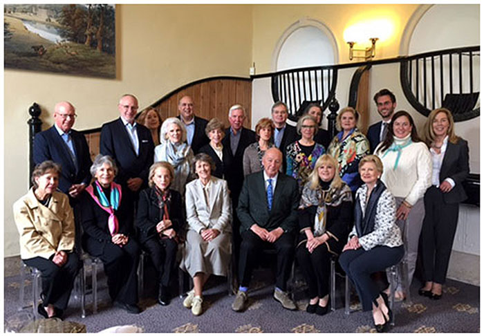 Members trip to United Kingdom - The group pictured with the Duke and Duchess of Devonshire at Chatsworth House