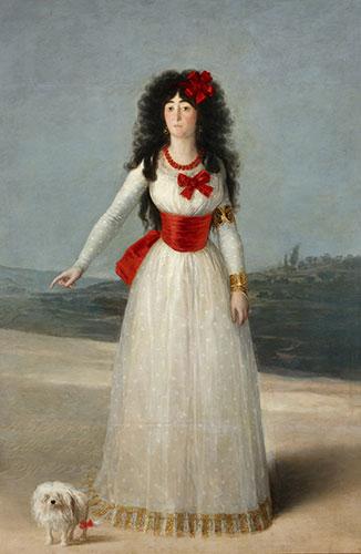 Francisco de Goya y Lucientes (Spanish, 1746-1828), The Duchess of Alba in White, 1795. Oil on canvas. Colección Duques de Alba