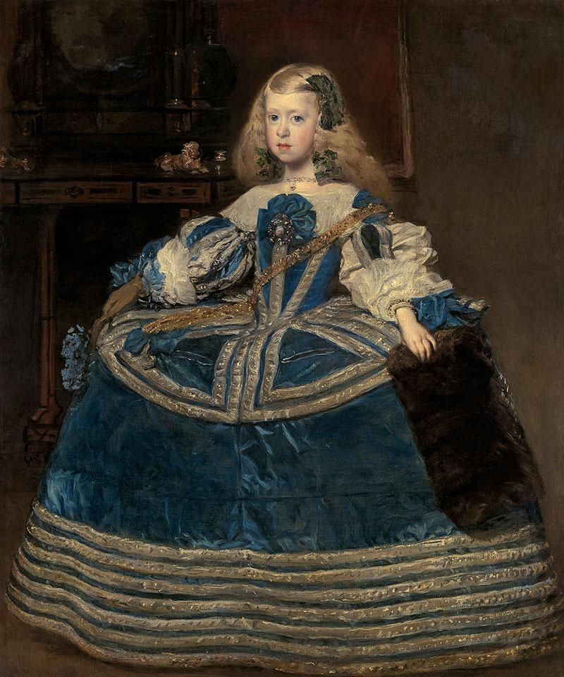 Diego Rodríguez de Silva y Velázquez (Spanish, 1599-1660), Infanta Margarita in a Blue Dress, 1659. Oil on canvas. Kunsthistorisches Museum, Gemäldegalerie, Vienna. Copyright: Kunsthistorisches Museum Vienna.