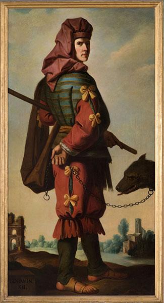 Arthur Pond (British, 1705–1798) after Francisco de Zurbarán (Spanish, 1598–1664), Benjamin, 1756. Oil on canvas. Photo by Colin Davison. © Auckland Castle Trust/ Zurbarán Trust
