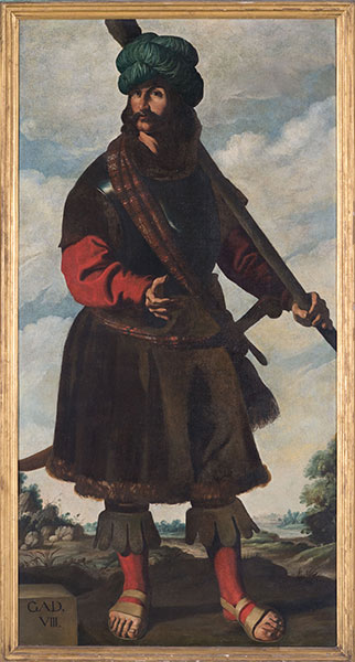 Francisco de Zurbarán (Spanish, 1598 – 1664), Gad, c. 1640-45. Oil on canvas. Photo by Colin Davison. © Auckland Castle Trust/ Zurbarán Trust