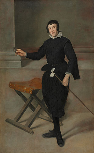 Diego Rodríguez de Silva y Velázquez (Spanish, 1599-1660), Portrait of the Jester Calabazas, c. 1631-32. Oil on canvas. The Cleveland Museum of Art, Cleveland, Leonard C. Hanna, Jr. Fund, 1965.15.
