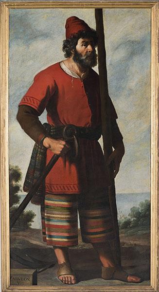 Francisco de Zurbarán (Spanish, 1598 – 1664), Zebulun, c. 1640-45. Oil on canvas. Photo by Colin Davison. © Auckland Castle Trust/ Zurbarán Trust