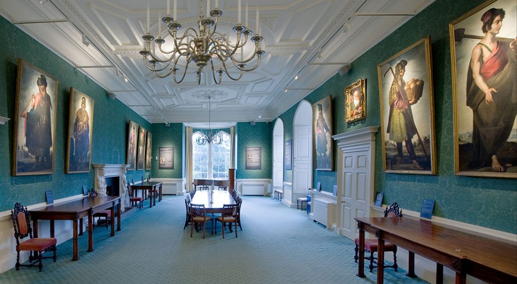 The Zurbaran paintings and other works hanging in Auckland Castle's Long Dining Room. Photo by Colin Davison. © Auckland Castle Trust/ Zurbarán Trust