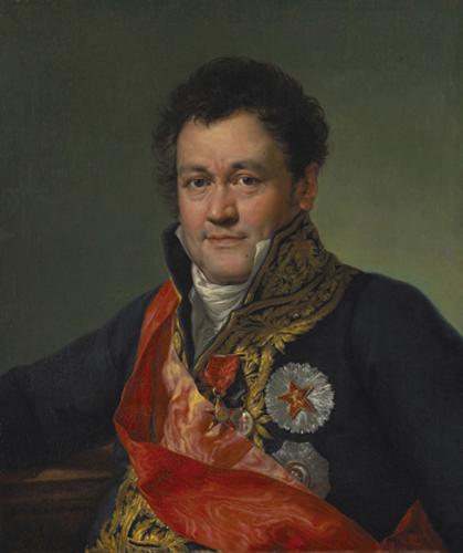 Vicente López y Portaña (1772-1850), Portrait of Baron Mathieu de Faviers, 1812. Oil on canvas; Meadows Museum, SMU, Dallas, Algur H. Meadows Collection Photography by Michael Bodycomb