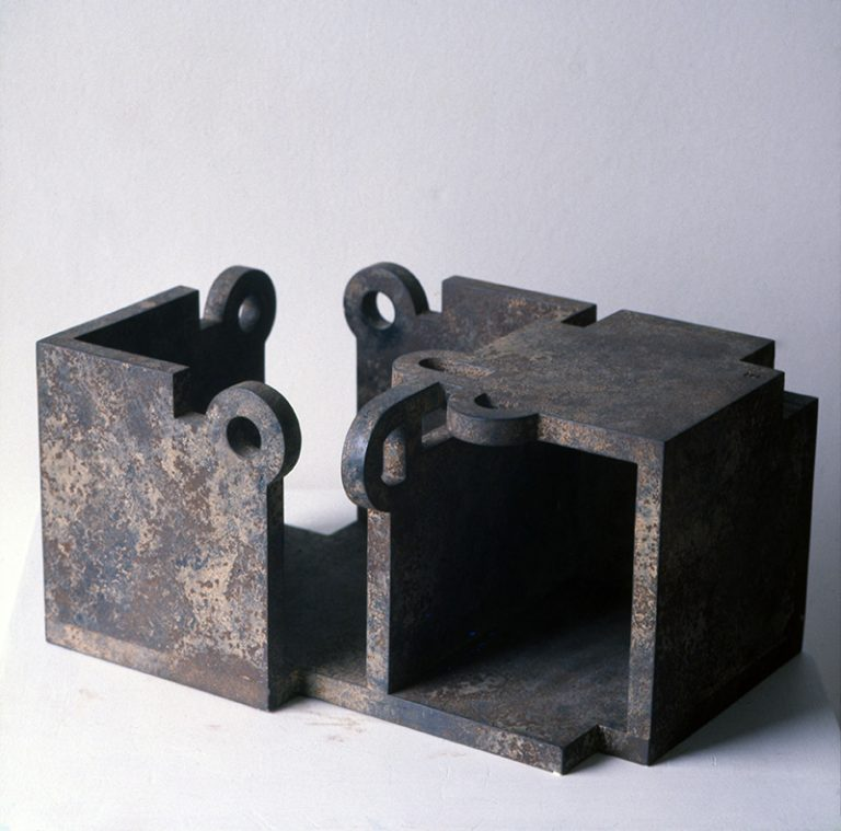 Eduardo Chillida (Spanish, 1924–2002), Gure aitaren etxea (1ª versión Nº 2) / Our Father's House (1st Version No. 2), 1985. Iron. © 2017 Zabalaga - Leku, Artists Rights Society (ARS), New York / VEGAP, Madrid
