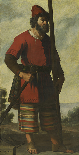 Francisco de Zurbarán (Spanish, 1598-1664) Zebulun, c. 1640-45. Oil on canvas. Auckland Castle, County Durham © Auckland Castle Trust/Zurbarán Trust. Photo by Robert Laprelle.