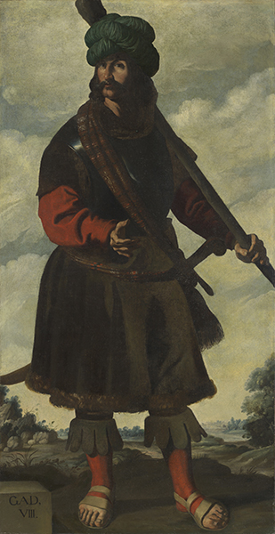 Francisco de Zurbarán (Spanish, 1598-1664) Gad, c. 1640-45. Oil on canvas. Auckland Castle, County Durham © Auckland Castle Trust/Zurbarán Trust. Photo by Robert Laprelle.