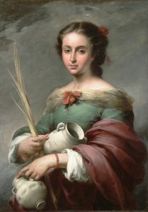 "Bartolomé Esteban Murillo (Spanish, 1617–1682), ""Saint Rufina,"" c. 1665. Oil on canvas. Meadows Museum, SMU, Dallas. Algur H. Meadows Collection, MM.72.05. Photo by Brad Flowers"