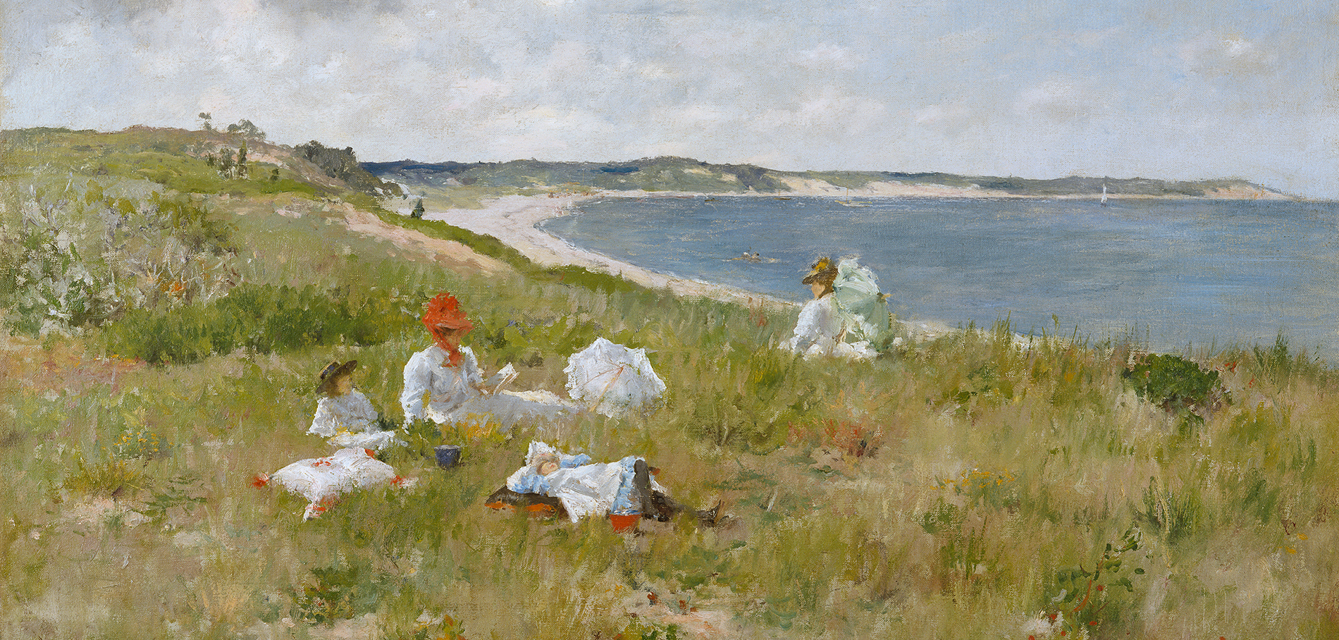 William Merritt Chase (American, 1849–1916), Idle Hours, c. 1894. Oil on canvas, 25 1/2 x 35 1/2 in. (64.8 x 90.2 cm). Amon Carter Museum of American Art, Fort Worth, Texas, 1982.1.