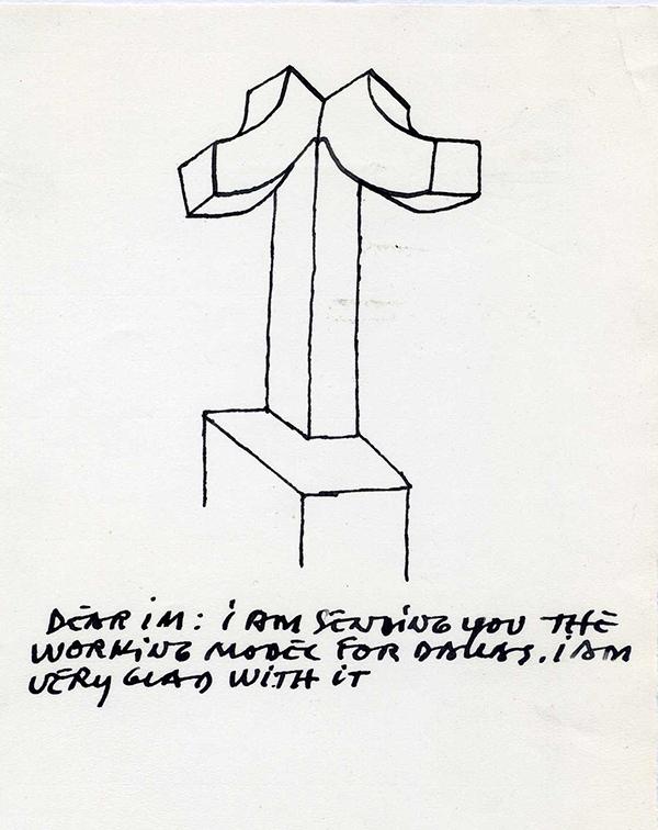Eduardo Chillida (Spanish, 1924–2002), Study for De música, Dallas XV, 1989. Ink drawing on paper, 8 1/4 x 5 7/8 in. (21.1 x 14.8 cm). Museu Chillida-Leku, 1.989.031. Zabalaga-Leku. 2018 Artists Rights Society (ARS), New York/VEGAP, Madrid.